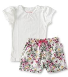 zomer pyjama meisjes - bloemen print - Little Label