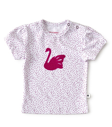 baby meisjes shirt korte mouw - roze stippen - Little Label