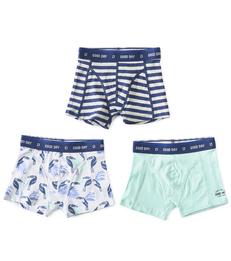 boxers shorts boys 3-piece toucan blue combi Little Label