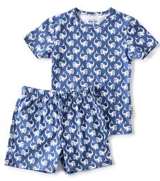 zomer pyjama - navy blue whale