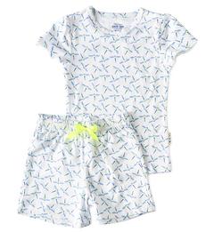 korte pyjama met blauwe libellen print Little Label