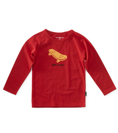 baby jongens shirt - red - Little Label