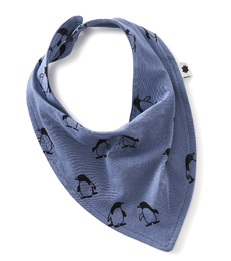 baby bib - penguin blue - Little Label