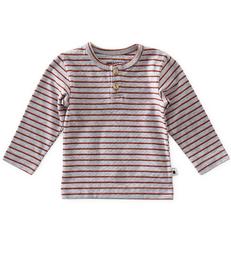 baby granddad shirt - striped grey orange red - Little Label