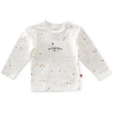 baby shirt lange mouw - off white caramel pink stars little Label