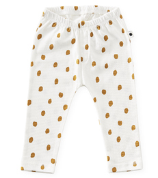 baby broekje - off white big caramel dots - Little Label