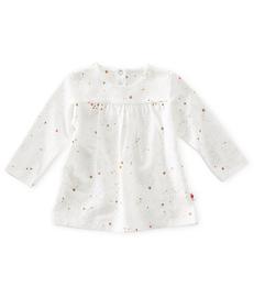 baby tuniek - off white caramel pink stars - Little Label