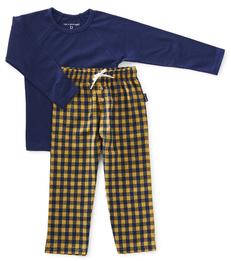 pyjama set jongens - yellow check - Little Label