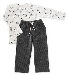 pyjama set jongens - black stripe - Little Label