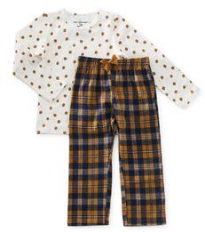 pyjama set meisjes - dark blue check - Little Label