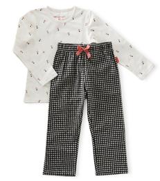 pyjama set meisjes - black white check - Little Label