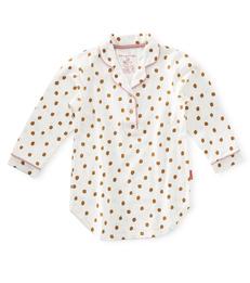 sleepshirt meisjes - dots warm gold - Little Label