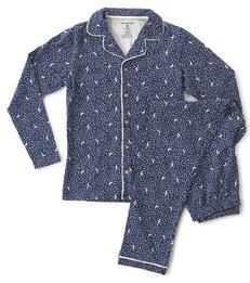 pyjamaset dames blauw maan sterren Little Label