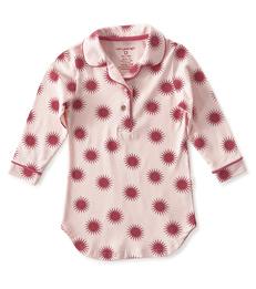 nachthemd meisjes roze fuchsia zonnetjes Little Label
