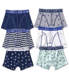 boxershorts 6-pack blue & white Little Label