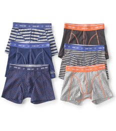 boxershorts 6-pack - blauw oranje antraciet Little Label