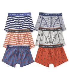 boxershorts 6-pack orange & blue Little Label