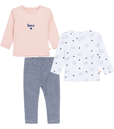 roze blauwe baby set Little Label