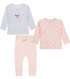 roze baby setje Little Label