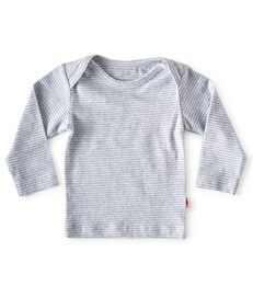 baby shirt lange mouw - blauwe gestreept - Little Label