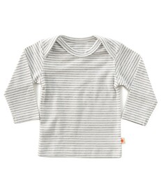 baby shirt lange mouw - antraciet gestreept - Little Label