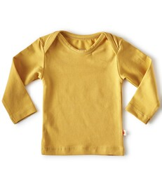 baby shirt lange mouw - geel - Little Label