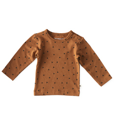 baby shirt lange mouw - copper clover little Label