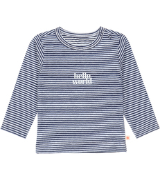 baby shirt - stripe navy world Little Label