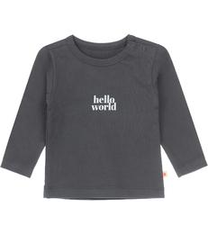 baby tee anthracite hello world Little Label