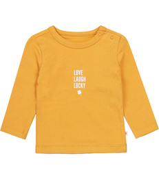 'love laugh lucky' baby t-shirt Little Label organic cotton