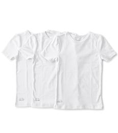 jongens t-shirts korte mouw set 3-pack wit Little Label