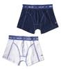 boxershorts 2-pack - uni dark blue & white
