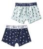 boxershorts 2-pack - palm azur & palm blue