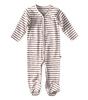 babypakje met voetjes - copper stripe