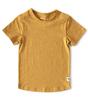 t-shirt korte mouw jongens - golden yellow