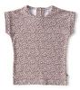 t-shirt korte mouw baby meisjes - copper leopard