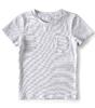 t-shirt korte mouw jongens - small stripe black