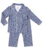 grandad pyjama - checkered blue