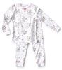 pyjama meisjes - flower white