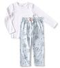 meisjes pyjama - flower blue
