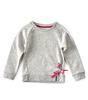 meisjes sweater - grey pink neppy