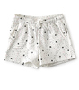 meisjes shorts - off white all over bird print