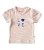 baby meisjes shirt korte mouw - fluo pink stripe