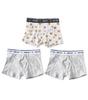 boxershorts 3-pack - white tiger combi