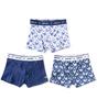boxershorts 3-pack - blue whale combi