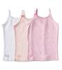 hemd meisjes 3-pack - pink combi