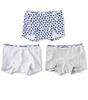 shorts meisjes 3-pack - blue hearts combi