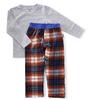 pyjama set jongens - blue orange check