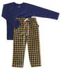 pyjama set jongens - yellow check