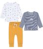 babysetje - 2 shirts en broekje - blauw